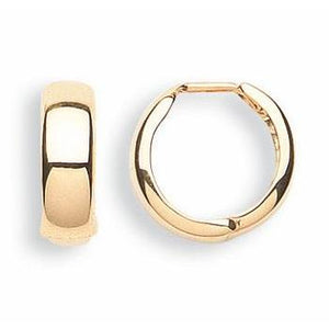 9ct Yellow Gold Huggies Hoop Earrings - Queen of Silver