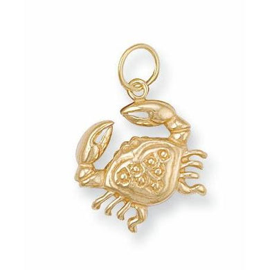9ct Yellow Gold Cancer Zodiac Pendant - Queen of Silver