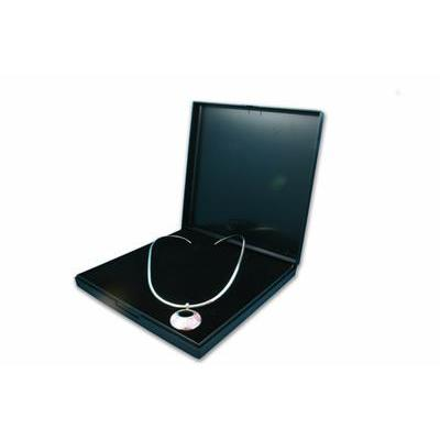 Black Plastic Hinged Necklace Gift Box - Queen of Silver