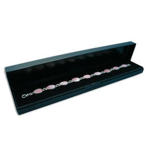 Black Plastic Hinged Bracelet Gift Box - Queen of Silver