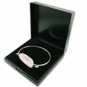 Black Plastic Bangle Hinged Gift Box - Queen of Silver
