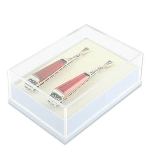 Medium Clear Top Earring Box - Queen of Silver