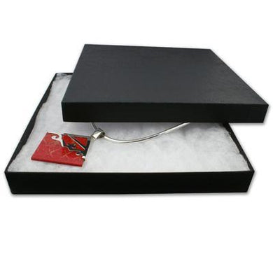 Extra Large Black Two-piece Cardboard Necklace Gift Box - Queen of Silver