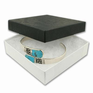 Large Two-piece Black Bangle Gift Box - Queen of Silver