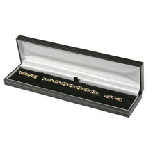 Black with Gold Gilt Border Bracelet Gift Box - Queen of Silver