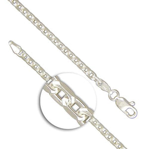 Sterling Silver Heavy Diamond-Cut Belcher Chain