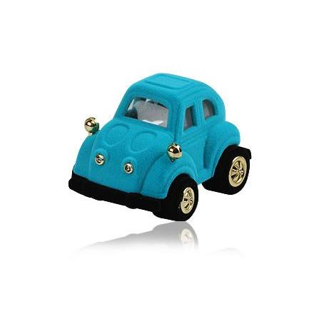 Novelty Blue Car Shaped Hinged Ring Jewellery Box - Queen of Silver