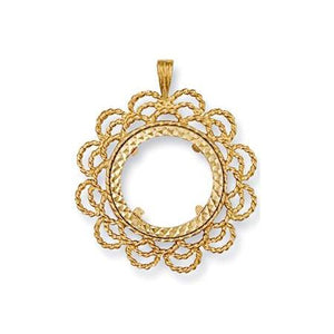 9ct gold sovereign pendants queen of silver 9ct yellow gold half fancy sovereign pendant queen of silver aloadofball Images