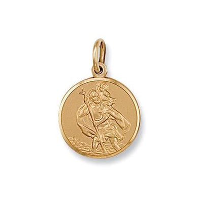 9ct Yellow Gold St Christopher Pendant - Queen of Silver