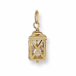 9ct Yellow Gold Lantern Pendant - Queen of Silver