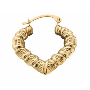 9ct Yellow Gold Baby Bamboo Creole - Queen of Silver