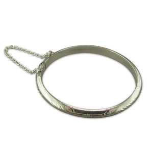 Sterling Silver Babies Hinged Engraved Bangle