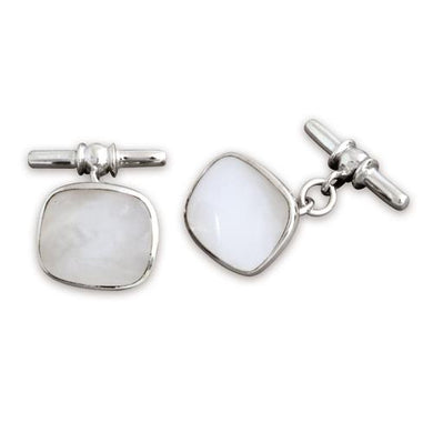 Sterling Silver Oblong Mother of Pearl Cufflinks Gifts