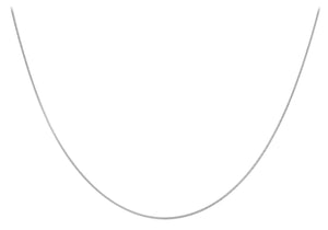 9ct White Gold 50pg Round Snake Chain