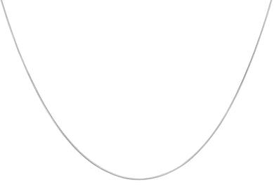9ct White Gold Round Snake Chain