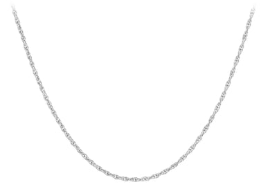 9ct White Gold 20pg Prince Of Wales Chain
