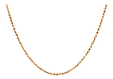 9ct Red Gold 60pg Hollow Rope Chain