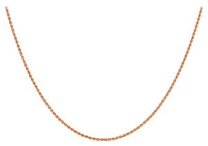 9ct Red Gold 40pg Hollow Rope Chain