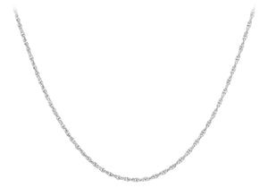 9ct White Gold 16pg Prince Of Wales Chain