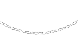 9ct White Gold 20pg Trace Chain