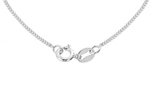 9ct White Gold 30pg Diamond Cut Curb Chain