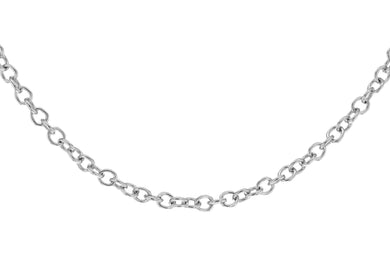 9ct White Gold 40pg Trace Chain