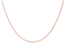 9ct Rose Gold 20pg Diamond Cut Curb Chain 46cm/18""