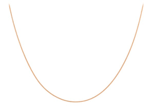 9ct Rose Gold 30pg Diamond Cut Curb Chain 46cm/18""