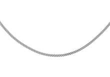 9ct White Gold 50pg Diamond Cut Curb Chain