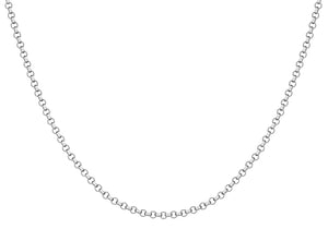 9ct White Gold 100pg Round Belcher Chain
