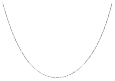 9ct White Gold 045pg Round Belcher Chain