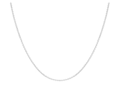 9ct Gold White 068pg Round Belcher Chain 24