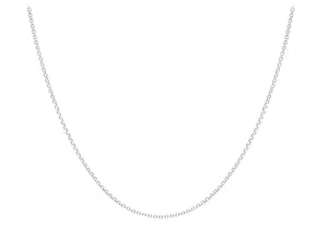 9ct Gold White 068pg Round Belcher Chain 24""