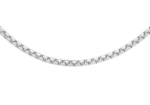 9ct White Gold Diamond Cut Box Belcher Chain