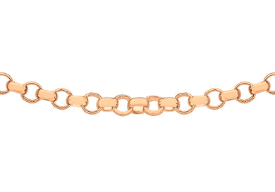 9ct Rose Gold 45pg Round Belcher Chain 46cm/18