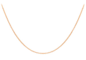 9ct Rose Gold 045pg Round Belcher Lob Chain
