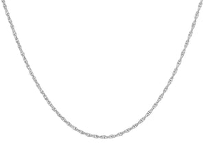 9ct White Gold 14pg Prince Of Wales Chain