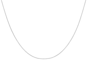9ct White Gold 9pg Venetian Box Adjustable Chain