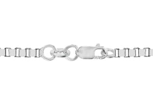 9ct White Gold 30pg Venetian Box Chain