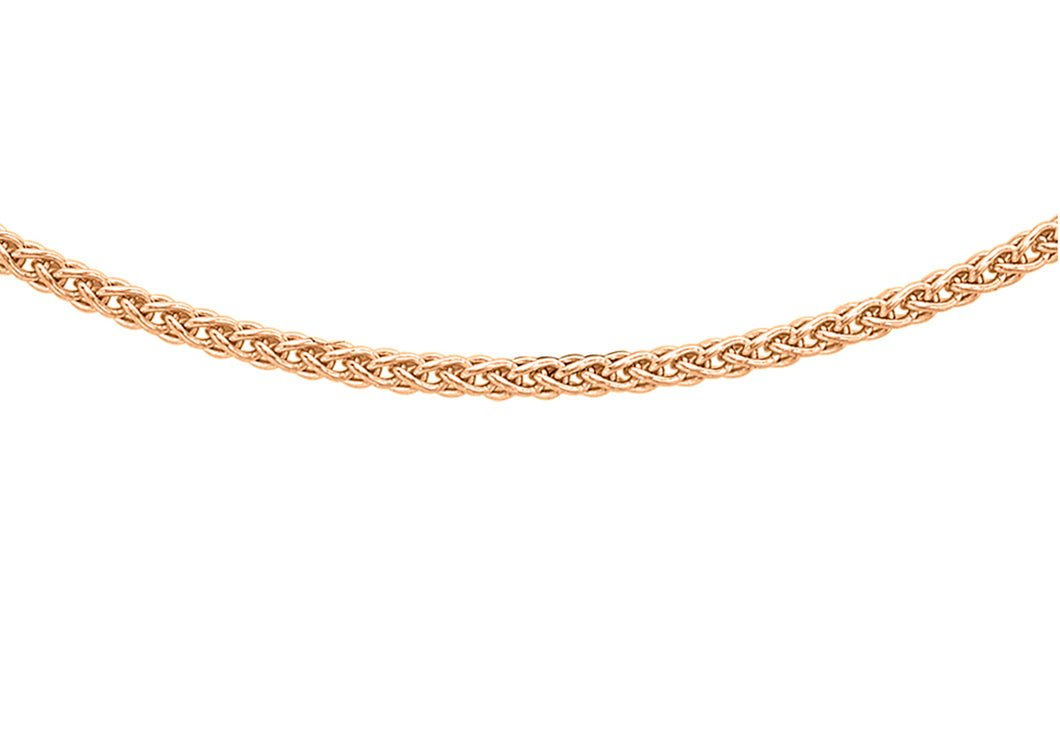 9ct Rose Gold Spiga Chain
