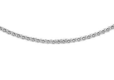 9ct White Gold 030pg Spiga Chain