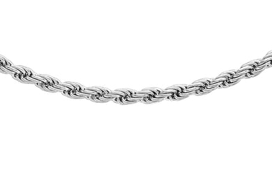 9ct White Gold 030pg Rope Chain
