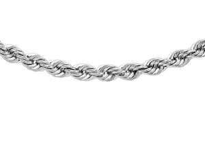 9ct White Gold 040pg Rope Chain