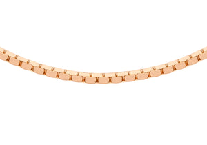 9ct Rose Gold 40pg Mirror Box Chain