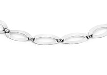 9ct White Polished Elliptic Bracelet 18cm/7""