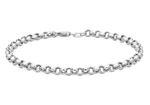 9ct White Gold Belcher Bracelet 18cm/7""