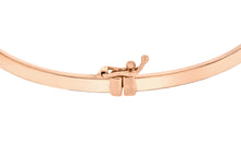 9ct Rose Gold Rectangular Tube Bangle