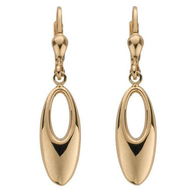 9ct Yellow Gold  Fancy Oval Drops - Queen of Silver