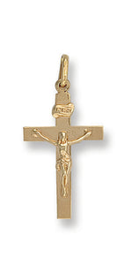 9ct Yellow Gold Crucifix Pendent - Queen of Silver