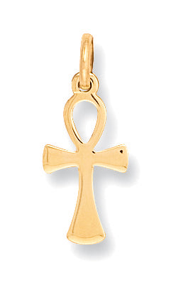9ct Yellow Gold Anchor Cross Pendent - Queen of Silver